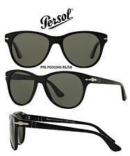 Persol Sunglasses PO3134S 95/58 Black/Green Polarized 100% New & Authentic