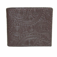 New Tallia Men's Paisley-Embossed Leather Bifold Wallet
