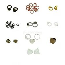 10 Pieces Adjustable Ring Base Tray Empty Blank Bases Setting Jewelry Findings