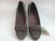Womens Crocs Wrap Colorlite Ballet Flat Brown Shoes