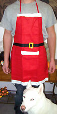 Christmas Apron Mrs CLAUS Santa ELF Holiday Outfit Fun Felted Costume Bake Chef
