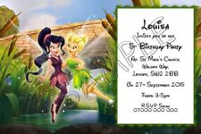 Tinkerbell and Vidia Girls Personalised Party Invitations or Thank You Cards A6