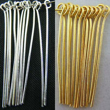 Wholesale Silver Plated Gold Plated Eye Pins Needles Jewelry Findings 5 Sizes