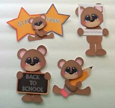 3D-U Pick - SG6 School Bears Boy Girl Apple Paint Card Scrapbook Embellishment