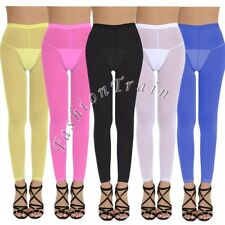 Sexy Women's Lingerie See-Through Crotchless Long Pants Legging Sheer Trousers