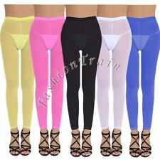 Sexy Women's Yoga Tights Lingerie See-through Sheer Mesh Pants Trouser Underwear