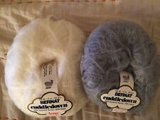 Bernat Cuddledown 50% Mohair Yarn Choose Natural or Pearl Gray 3 Balls