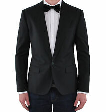 DOLCE & GABBANA SICILIA RUNWAY Virgin Wool Tuxedo Blazer Jacket Black 03477