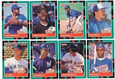 1988 Donruss Rookies Complete Team Set from Factory Set 9 Available XRC RC 88