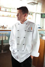CHEF WORKS CHAUMENT WHITE EXECUTIVE CLASSIC FIT CHEF COAT BSPC