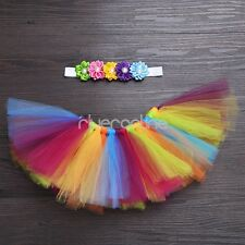 Infant Baby Girls Tulle TUTU Skirt Headband Photography Props Costume Outfits