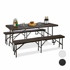 Folding Bench and Table Set Foldable Patio Bench Outdoor Furniture Set Marquee