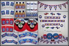 ** HOT WHEELS CARS PERSONALISED Birthday Party Decorations Scene Setter Supplies