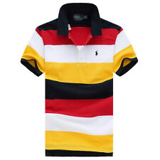 NWT Men's Polo T Shirts cotton short sleeve ATHLETIC TEE TOPS SIZE S M L XL XXL