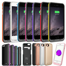 External Bumper Back Power Bank Pack Battery Charger Case For iPhone 6 6S 7 Plus