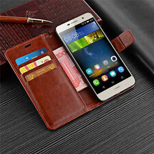 Luxury Magnetic Card Pouch Wallet Flip Stand Leather Case Cover Skin For Huawei