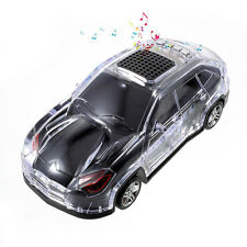 Cool Car Shape LED Bluetooth Speaker with Mic, Support FM/TF Card/U Disk/AUX-in