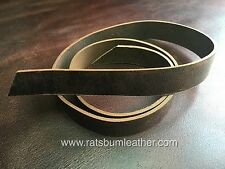 Brn leather Belt Blank 138 to144cm Make ur own belt Guitar Rifle strap restraint
