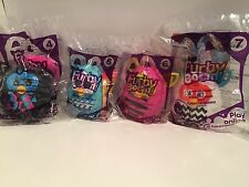 Mcdonald's happy meal toy furby boom collectible figurines #'s 4-7 Hasbro 2013.