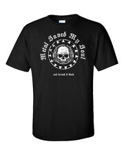 Metal Skull T-Shirt Heavy Black Thrash Doom Power Progressive Death Men Music