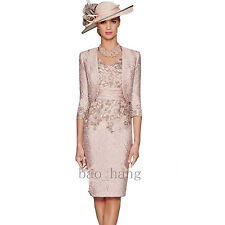2017 Formal Mother of Bride Dress Suits 2 Pieces Knee Length Evening Outfits New