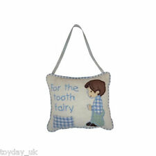 Tooth Fairy Cushion NEw Pink or Blue Pillow with Tooth Pocket