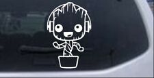 Baby Groot Dancing With Headphones Car or Truck Window Laptop Decal Sticker