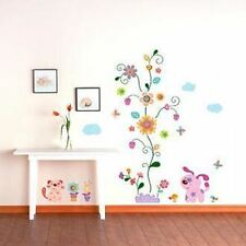 "Wall Decals Sticker PUPPY & FLOWER 02-KR0013 ""U.S SELLER"""