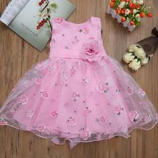 Kids Girls Summer Christening Pageant Party Prom Princess Wedding Flower Dress