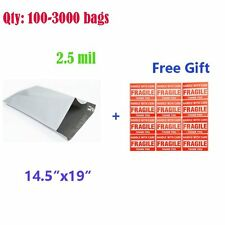 100-3000 14.5x19 Poly Mailer Polybag Mailing Envelope Self Seal Plastic bags New