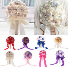 Artificial Roses Floral Heart Silk Flowers Wedding Bouquet Party Room Decoration