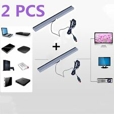 2X Wired Infrared Ray Sensor Bar for Nintendo Wii Remote Controller Pro DS