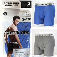 4 Pairs Mens Boxer Briefs ACTIV PRO 100% Cotton