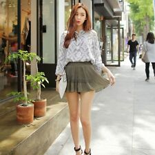 New Lady Women's Sweet Fashion Above Knee Short Culottes Elastic Pleated WT8801