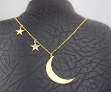 Handmade Personalized Moon and Stars Necklace, Gift, Fashion Necklace