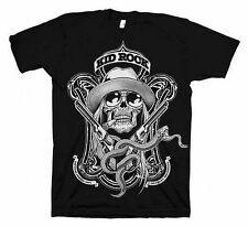 Kid Rock Snake Label T-Shirt Black S M XL 2XL Licensed Skull Pistols Shirt New