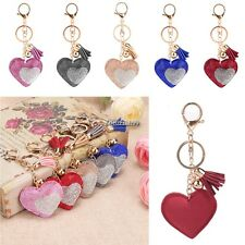 New Women Sweet Key Ring Heart Resin Rhinestone Patchwork Key Chain Decor BF901