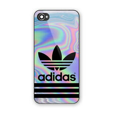Adidas Gold Luxury Carbon Print On Hard Plastic Case For iPhone 5s 6s 7 8 (Plus)