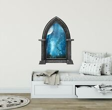 Castle Window Wall Decal Fairy Tale Decals Window Decal Fairytale Moon At Night