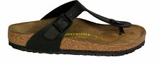 BIRKENSTOCK 043691 GIZEH black REGULAR WIDE Birko Flor NEW
