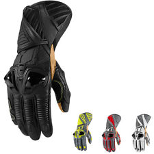 """ICON """"HYPERSPORT PRO LONG"""" LEATHER GLOVES MOTORCYCLE MENS - CHOOSE SIZE & COLOR!"""