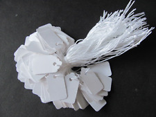"100 Jewelry Gift Party Price Hang Tags w/ Knotted White String 5/8"" x 1-1/8"""