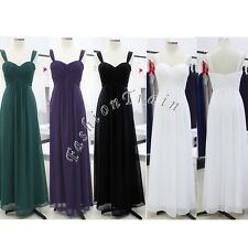Formal Long Pleated Bridesmaid Gown Party Cocktail Evening Prom Women's Dresses
