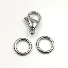 9-19MM Stainless Steel Lobster Clasp pkg. of 10 & 20 Jump Ring / 316L Stainless