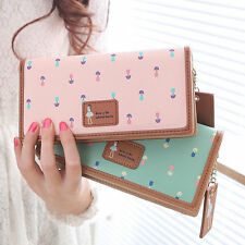 Women Lady Fashion PU Leather Wallet Long Card Holder Handbag Bag Clutch Purse y