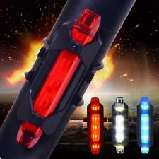 Unique 5 LED USB Rechargeable Bike Bicycle Tail Rear Safety Warning Light Lamp m