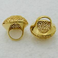 Women Gold Color Zinc Alloy Copper Metal New Fashion Stylish Ring