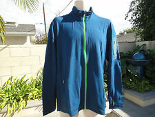 ICEBREAKER Compass Midlayer Full-Zip Shirt UPF 20+, Merino Wool Blend Mens' Size
