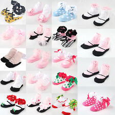 Lovely Baby Slipper Shoes Boots Infant Anti-slip Bow Cotton Newborn Socks