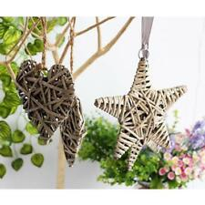Wicker Round/Heart/Star Hanging Decoration Wedding Christmas Home Party Decor